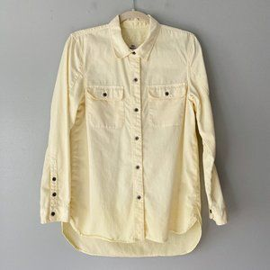 Madewell Men's S Yellow Button Down Casual Shirt